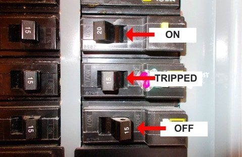 check the circuit breaker if your furnace stops working